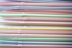 Plastic straws Royalty Free Stock Image