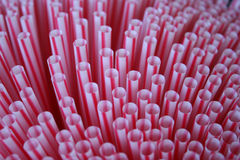 Plastic straws Stock Image