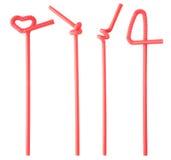 plastic straws Stock Photography
