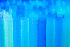 Plastic straws for juice Stock Photography