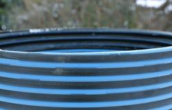 Plastic striped pipe repair manhole ring Royalty Free Stock Image