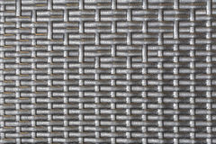 Plastic striped woven texture Royalty Free Stock Photos