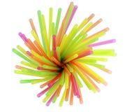 Plastic stro voor een cocktail Stock Afbeelding