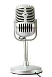 Plastic studio microphone metallic color Royalty Free Stock Image