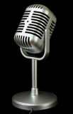 Plastic studio microphone metallic color Stock Images