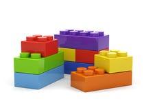 Plastic stuk speelgoed blokken. Royalty-vrije Stock Afbeelding