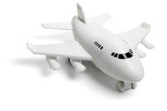 Plastic stuk speelgoed jet Stock Foto's