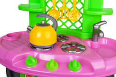 Plastic stuk speelgoed keuken Stock Fotografie