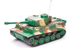 Plastic stuk speelgoed tank Royalty-vrije Stock Afbeeldingen