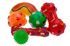 Plastic stuk speelgoed voor hond dichte omhooggaand Stock Foto