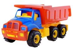 Plastic stuk speelgoed vrachtwagen Royalty-vrije Stock Foto's