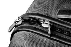 Plastic Suitcase Zipper Stock Photography