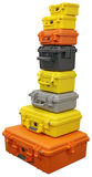 Plastic suitcases Stock Images