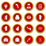 Plastic surgeon icon red circle set Royalty Free Stock Image