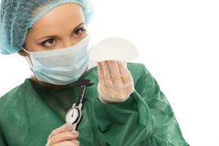 Plastic surgeon woman Royalty Free Stock Photography