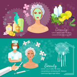Plastic surgery banner women's beauty skin care stock photos