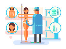 Plastic surgery character Royalty Free Stock Images