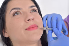 Plastic surgery concept. Hyaluronic acid injection Royalty Free Stock Photography