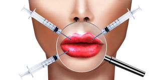 Plastic surgery and cosmetic improvement medical health and beauty Royalty Free Stock Photos