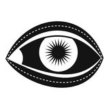 Plastic surgery of eye icon, simple style Stock Image