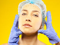 Plastic surgery face Royalty Free Stock Photo