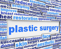 Plastic surgery message conceptual design Stock Image
