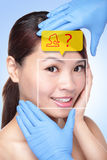 Plastic Surgery Operation Concept Royalty Free Stock Photos