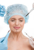 Plastic surgery. Royalty Free Stock Photography