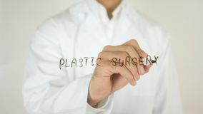 Plastic Surgery, Written on Glass. High quality Royalty Free Stock Image