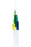 Plastic syringes Stock Photo