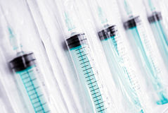 Plastic syringes. Stock Image