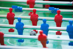 Plastic table football game Royalty Free Stock Photos