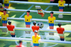 Plastic table football game Royalty Free Stock Image