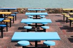 Plastic tables Stock Photos