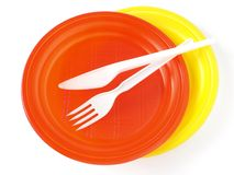 Plastic tableware Stock Photography