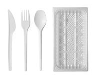 Plastic tableware Stock Image