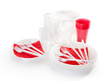 Plastic Tableware Stock Photo