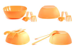 Plastic tableware Stock Photos