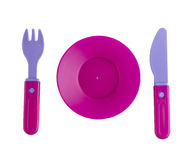 Plastic tableware toys Stock Photos