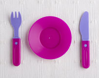 Plastic tableware toys Stock Photo