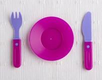 Plastic tableware toys Stock Photo