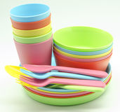 Plastic tableware Stock Photography
