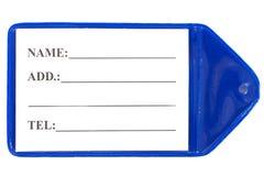 Plastic tag Stock Image