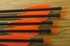 Plastic tail arrows Royalty Free Stock Image