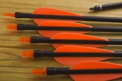 Plastic tail arrows Stock Image