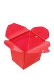 Plastic Takeaway Food Box. On White Background Royalty Free Stock Photo