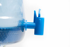 Plastic Tap of Pet Water Gallon Stock Images