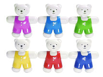 Plastic Teddy Bears Stock Images