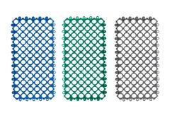 Plastic tegelplattor för Anti slip för badrum arkivbilder