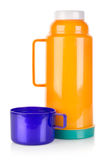Plastic termos   Royaltyfri Fotografi
